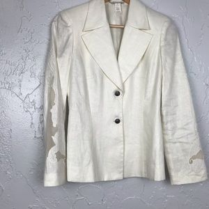 Gianni Versace Off White Linen Jacket